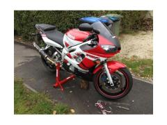 2001 YAMAHA R6 WHITE/RED